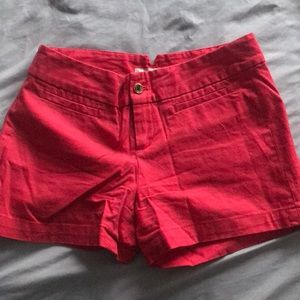 Banana Republic red shorts size 0 3in
